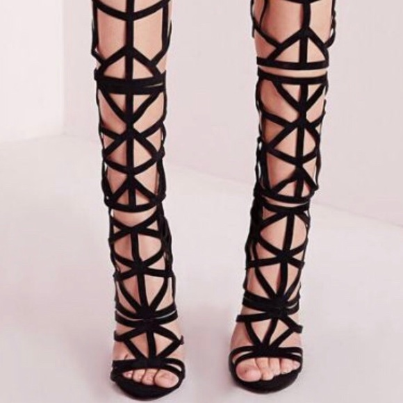 Cut Out Gladiator Heels